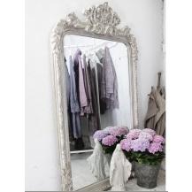 gro er spiegel french vintage silber bei le bon jour. Black Bedroom Furniture Sets. Home Design Ideas