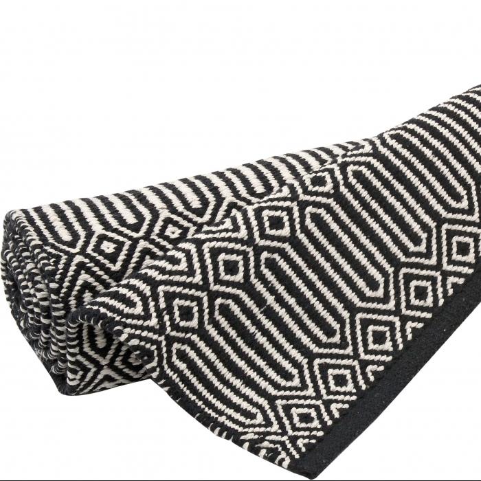 l ufer braid 70 x 200 cm schwarz weiss bei le bon jour. Black Bedroom Furniture Sets. Home Design Ideas
