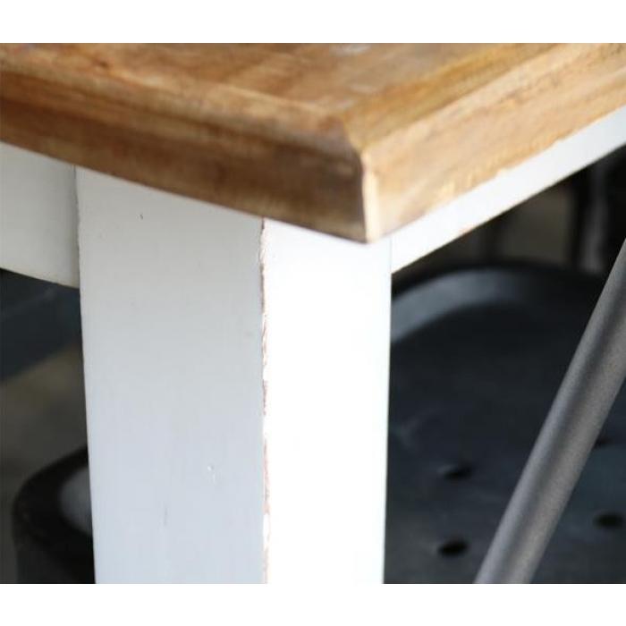 weisser holz esstisch shabby chic 220 cm bei le bon jour. Black Bedroom Furniture Sets. Home Design Ideas