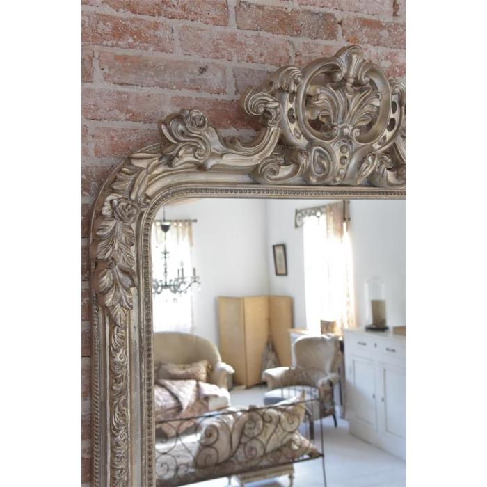 gro er spiegel french vintage golden silber antique bei le bon jour. Black Bedroom Furniture Sets. Home Design Ideas