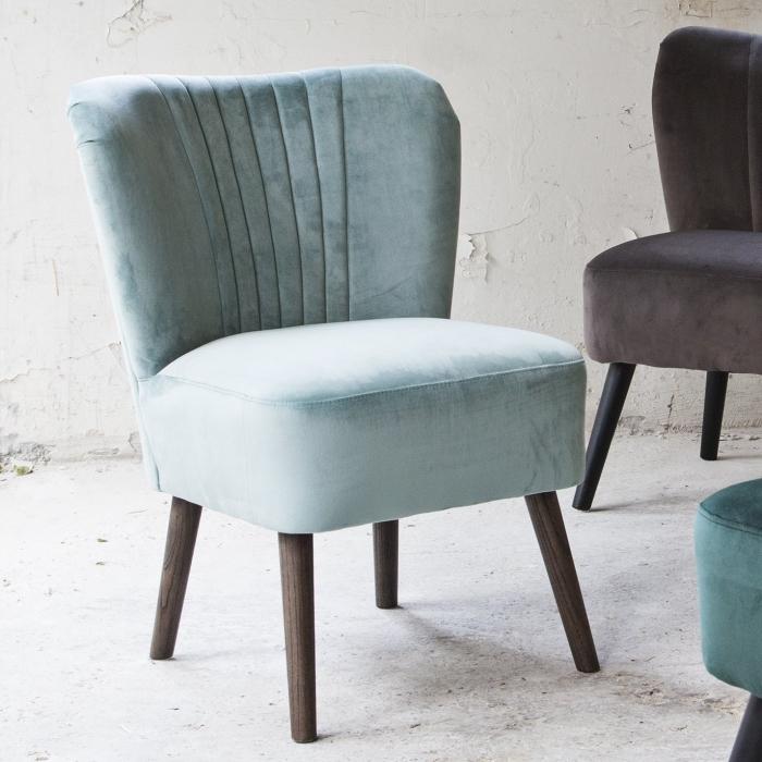 cocktailsessel velvet mint bei le bon jour. Black Bedroom Furniture Sets. Home Design Ideas
