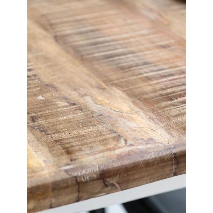 Weisser Holz Esstisch Shabby Chic 180 Cm Bei Le Bon Jour